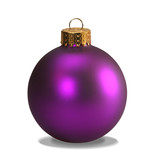 purple ornament with clipping path poster