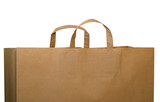 brown paper bag with path poster