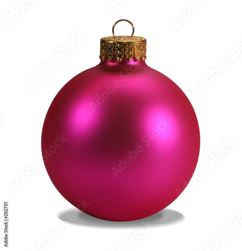 poster of pink ornament with clipping path