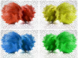 four color abstract poster
