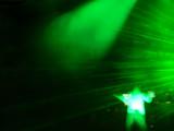 green laser on dj stage poster