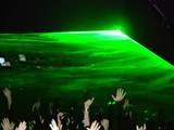 green laser on the stage poster