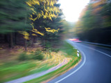 nature road artistic motion blur poster