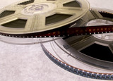 film reels isolated poster