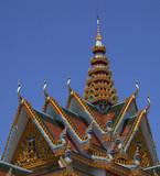 roof cambodian temple poster