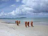buddhist beach poster