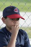 minority boy playing baseball poster