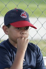minority boy playing baseball
