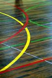 detail de parquet de salle de sport poster