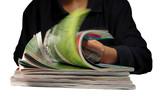 riffling through magazines poster
