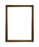 golden frame with clipping path poster