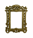 vintage frame with clipping path poster