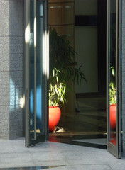 hall entrance with glass doors
