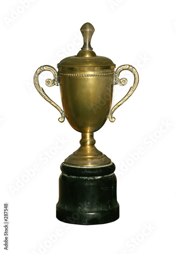 vintage gold cup with path