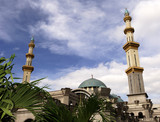 malaysia, kuala lumpur: mosque poster