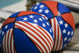 patriotic basketballs poster