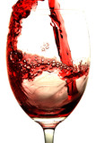 red wine splash poster