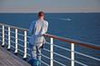 man on cruise at railing