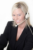 attractive receptionist poster