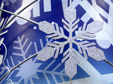 snowflake in blue background poster