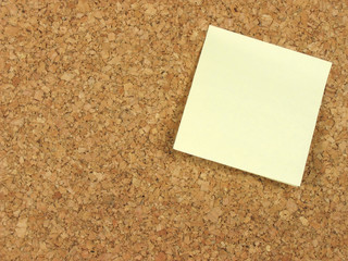 blank note on corkboard