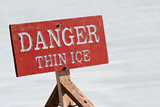 danger thin ice poster