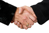 business deal - female hands poster