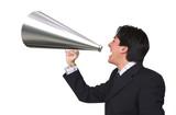 business announcement through loudspeaker 2 poster