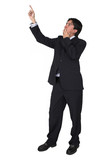 business man pointing - full body poster