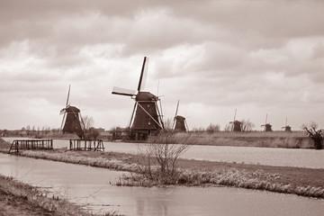 sepia windmills