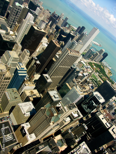 chicago from the top poster