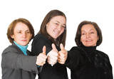 business female management team - thumbs up poster