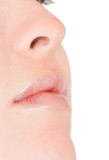 face close up - nose and mouth poster