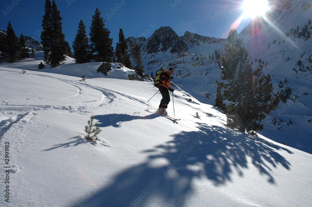 narty allein narciarz - powiększenie