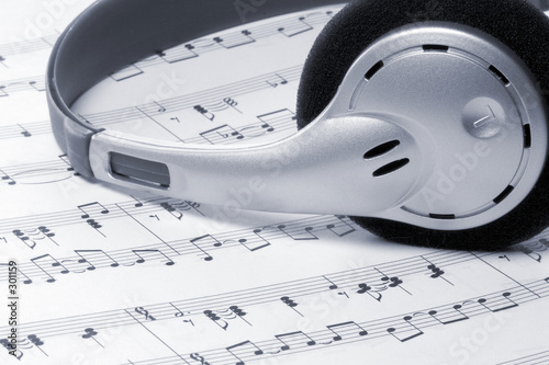 poster of music headphones