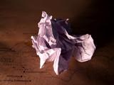 a4 grunge paper wrinkled poster
