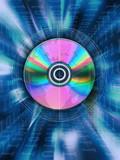 blue disk world information poster
