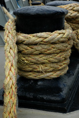 bollard and rope