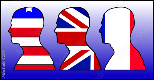 us uk and france head