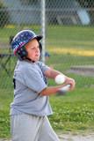 boy batting baseball poster