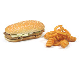 grilled chicken burger and twister fries poster