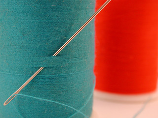 blue needle and thread
