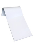 blank notepad w/ path poster