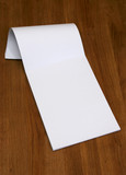 blank notepad poster