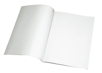 blank magazine spread w/ path