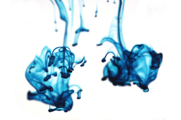 abstract blue liquid