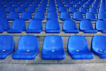 seatrows in stadium