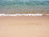 welcome on beach poster