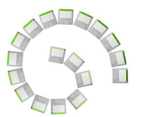 diskette spiral