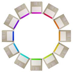 diskette circle
